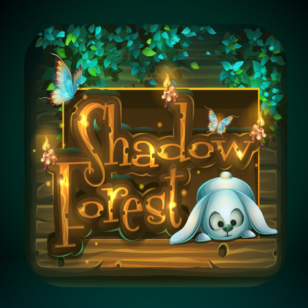 Icon for game user interface Shadowy forest Illustration