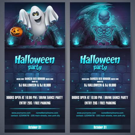 Vector illustration Halloween party flyer