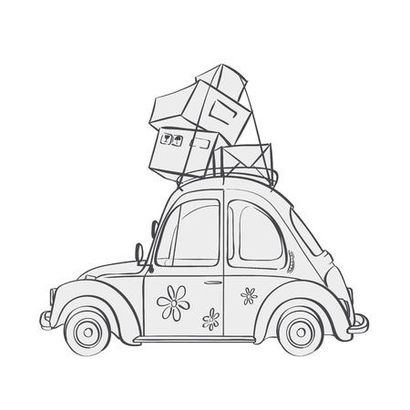 Vector cartoon illustration vehicle