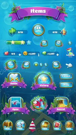 Vector illustration mobile format item screen. Bright background image to create original video or web games, graphic design, screen savers. Illusztráció