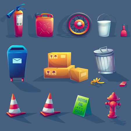 Vector illustration item set. For web, video games, user interface, design  イラスト・ベクター素材