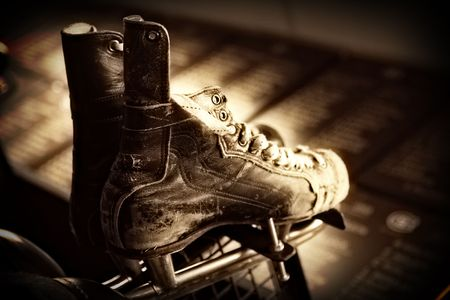 wintersport: Old Ice Hockey Skates