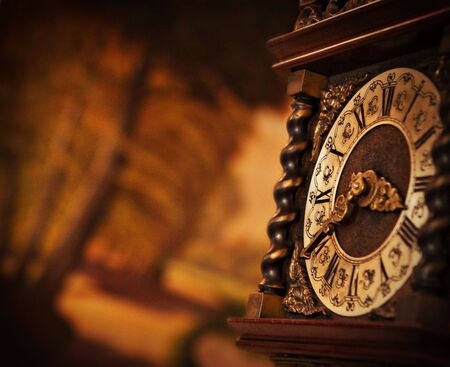 time of the year: Antique Clock Stock Photo