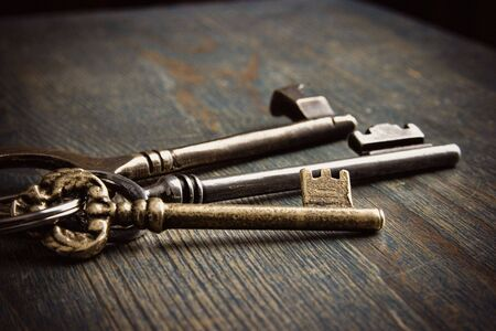 lock: Antique Keys Stock Photo
