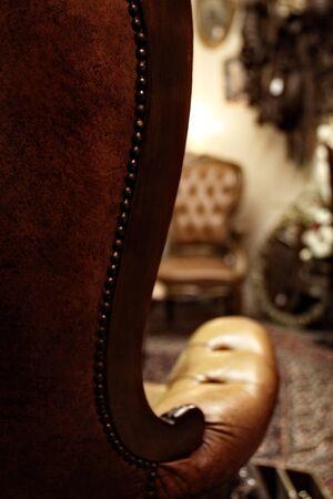 椅子の腕 写真素材