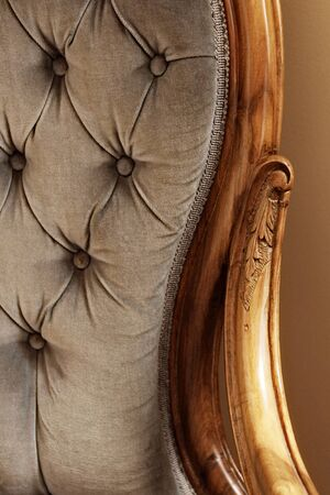 furniture: old blue chair