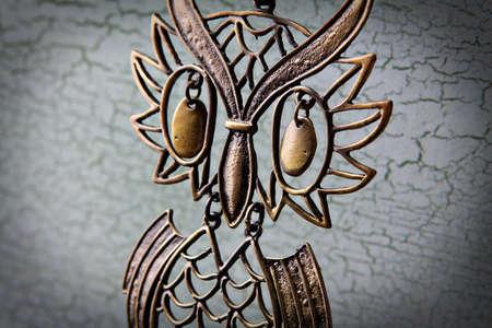 装飾的なフクロウのクローズ アップ