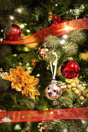 クリスマス ツリーのクローズ アップ 写真素材