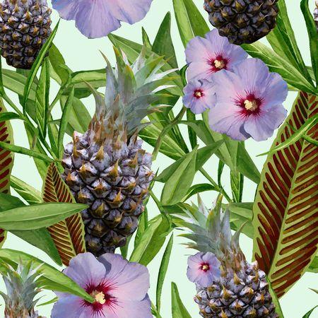 Tropical Dreams - Purple Hibiscus 写真素材
