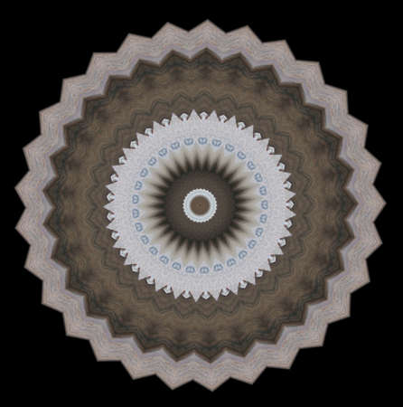grays: complex circular abstract image in grays and light browns with a bit of blue