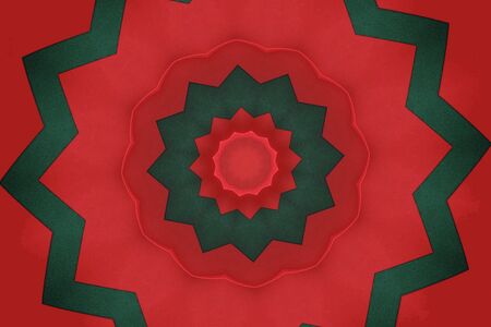 red and green abstract with stars in graduated sizes
