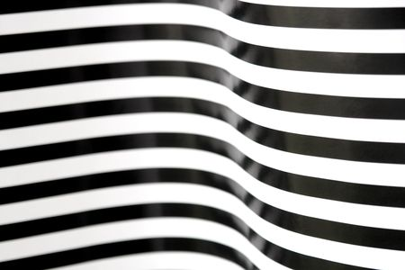 curving black and white stripes Imagens
