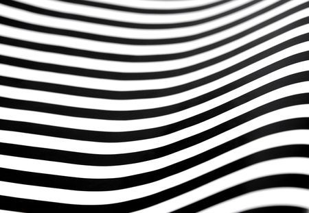 black and white stripes with an op art effect Stock Photo