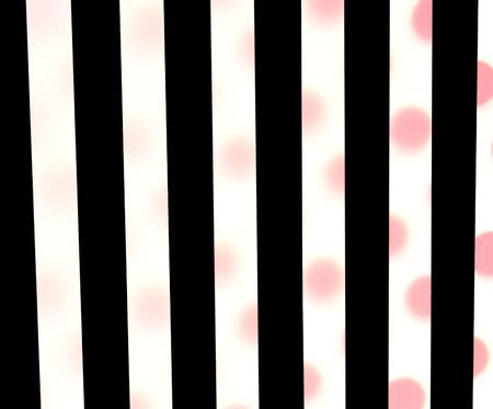 black stripes and red polka dots background