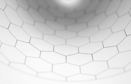 Concave hexagone modèle Banque d'images - 2890685