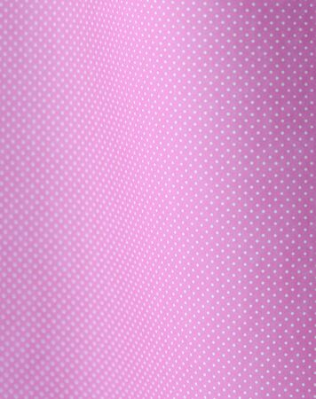 white polka dots on a curved pink background