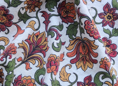 decorative old fabric in bright colors useful for a background Stock Photo - 4397723
