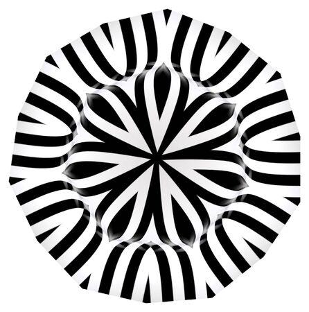 흑백의 복잡한 디자인
