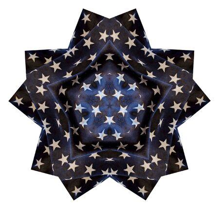 큰 푸른 별에 하얀 별의 그림