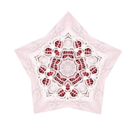 lace star on red and pink