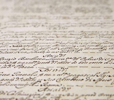 script writing from a sheet of art paper Stock fotó