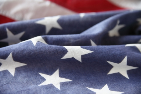 detail of the star section of an American flag