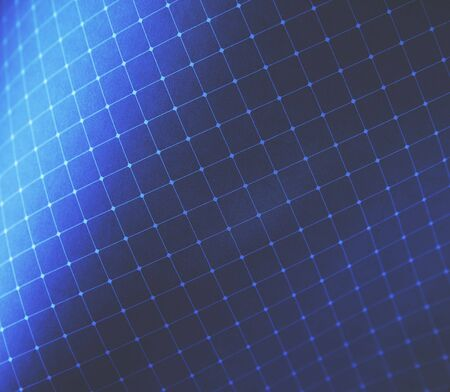 white grid on blue with gradients
