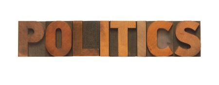 the word politics in old wood type Stock Photo - 5854004