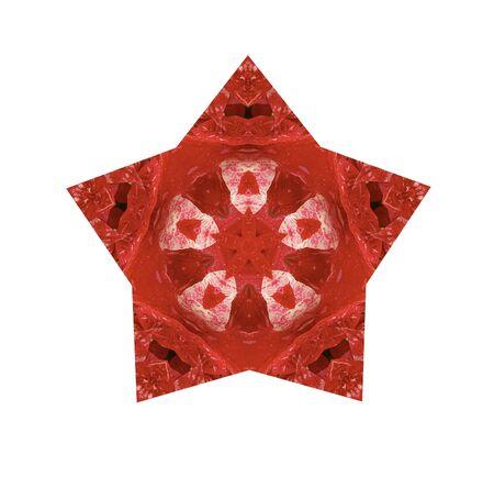 흰색 배경에 빨간색에서 스타 디자인