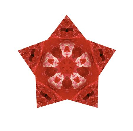 star design in reds on white background