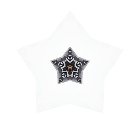 별 모양에있는지도 유형 편지의 삽화 스톡 콘텐츠
