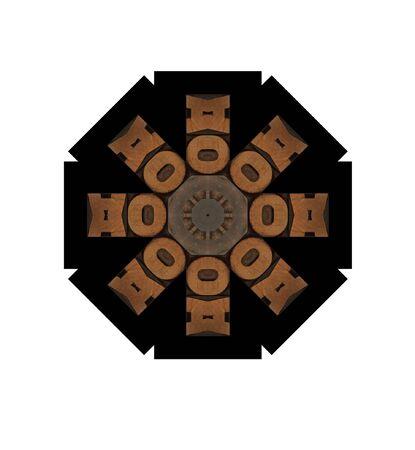 eight-point illustration using wood letterpress letters Stock Illustration - 8341993