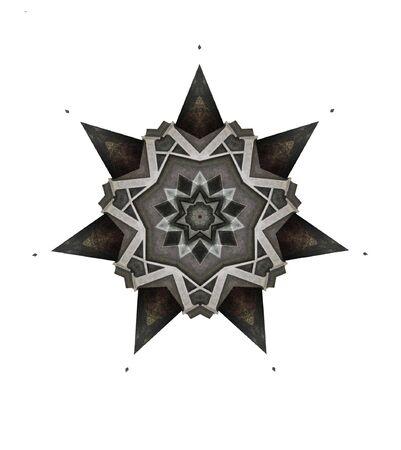 seven-point star illustration using metal letter A Stock Illustration - 8341990