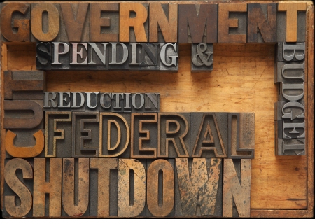 words related to a possible government shutdown