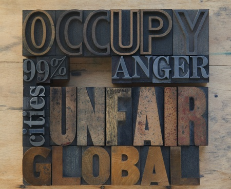 words related to the Occupy Wall Street movement Stock Photo - 11175207