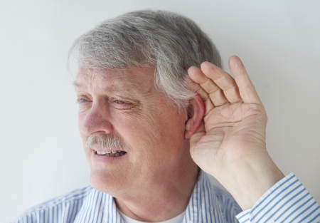 straining: senior is losing his ability to hear