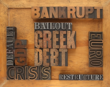 words related to Greece financial crisis Stock Photo - 14005487