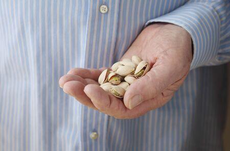 ナット軽食あり、糖尿病患者のための推奨サイズ 写真素材