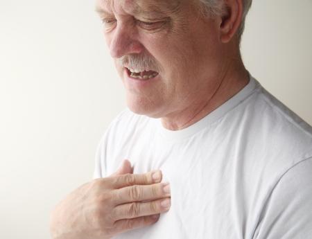 senior feels pressure in his chest