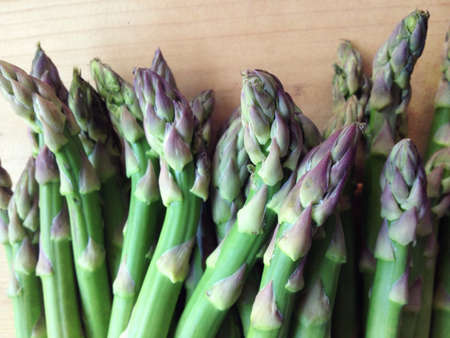 grouping: Grouping if fresh asparagus spears Stock Photo
