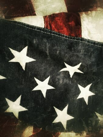 USA flag grunge Stock Photo