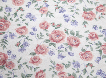 floral fabric print from the 70s Stock fotó