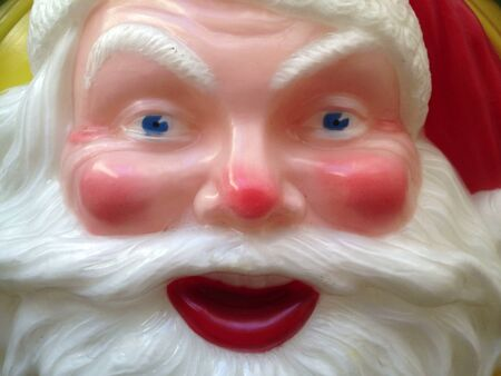 early 50s: A vintage Santa Claus store display from the early 50s