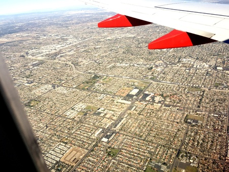 orange county: Flying into Southern California
