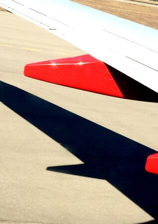 airplane wing: Airplane wing and shadow
