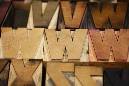 letterpress letters: Old letterpress capital letters in a bold font