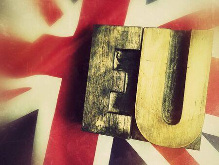EU on a British flag