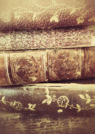 Closeup of antique book textures