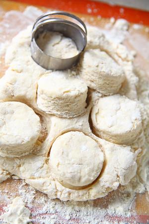 Preparing a batch of biscuits