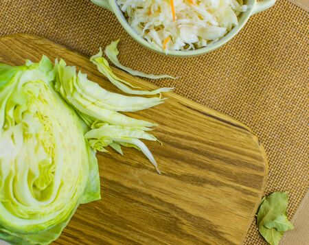 Sour and raw cabbage.